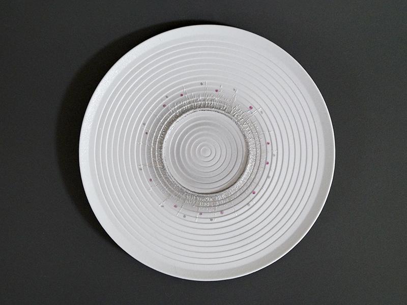 TMK032B グレーいかづちループプレート size φ25.7×2.0cm